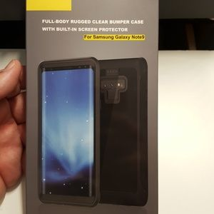 Case fullcover for samsung note 9 black-clear new